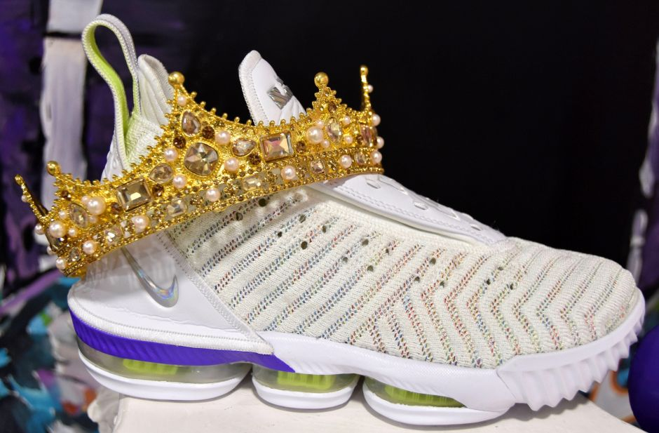 One of the sneakers from private collections exhibited in Sneakertopia.