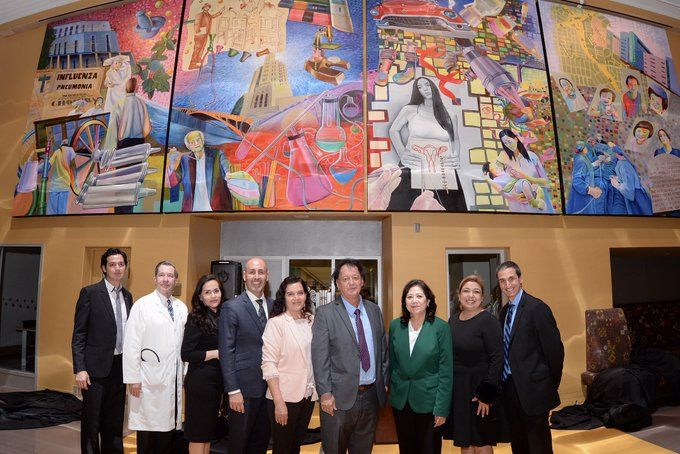 They reveal mural depicting the past, present and future of the Los Angeles General Hospital
