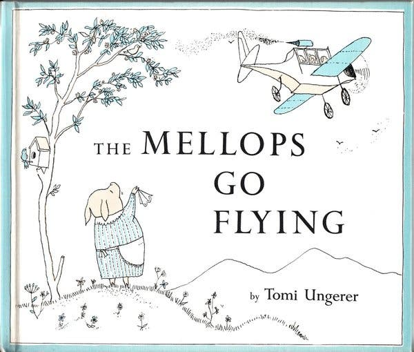Mr. Ungerer burst onto the children & rsquo; s-book scene in 1957 with & ldquo; The Mellops Go Flying, & rdquo; the first in a series about an adventurous family of pigs.
